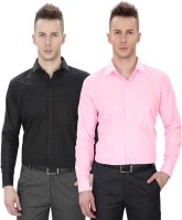 Regal Fit Formal Shirts (Men's) - Regal Fit Plus Men's Solid Formal Multicolor Shirt(Pack of 2)