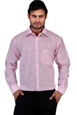 X-Cross Men's Solid Casual Pink Shirt