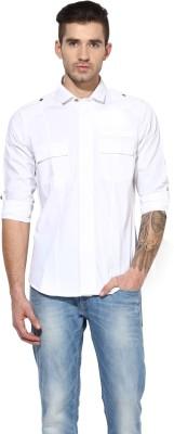 MONTEIL & MUNERO Men's Solid Casual White Shirt