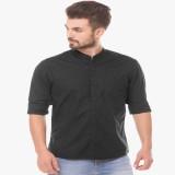 Being Fab Men's Solid Formal Black Shirt