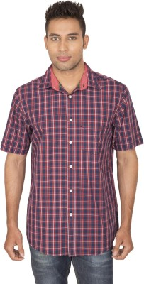 SmartCasuals Men's Solid Casual Red Shirt