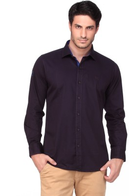 Fire & Ice Men's Solid Casual Purple Shirt