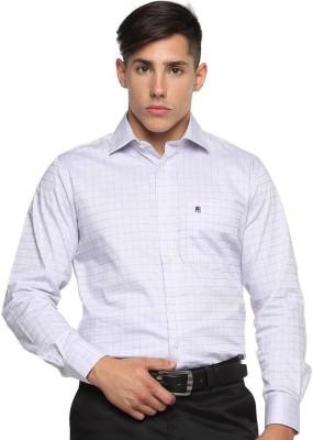 Balista Men,s Checkered Formal Purple Shirt