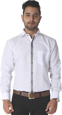 Crocks Club Men's Solid Party White Shirt