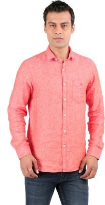 JHAMPSTEAD Men's Solid Casual Orange Shirt