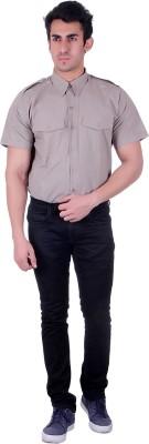 D.V. Saharan & Sons Men's Solid Casual Grey Shirt