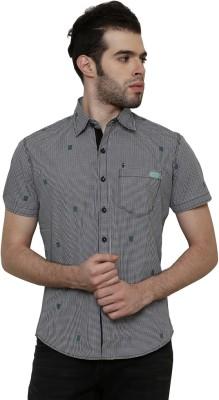 True Tittos Men's Checkered Casual Black, White, Green Shirt