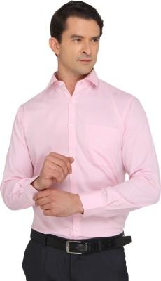 Donear NXG Men's Solid Formal Pink Shirt