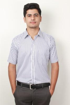 Frissk Men's Checkered Formal Purple Shirt