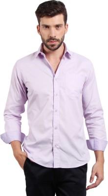 Solemio Men's Solid Casual Purple Shirt