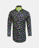 Yzade Men's Printed Casual Green Shirt