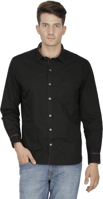 Kingswood Men's Solid Casual Black Shirt
