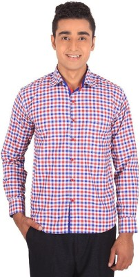 Henry Spark Men's Checkered Casual Red Shirt