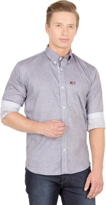 Union Street Men's Solid Casual Grey Shirt