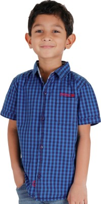 Biker Boys Boy's Striped Casual Blue Shirt