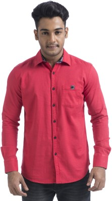Swathe Men's Solid Casual Red Shirt