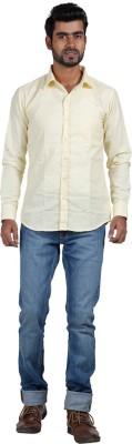 Sealion Men's Solid Casual Yellow Shirt