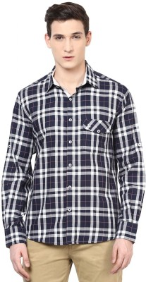 Urbano Fashion Men's Checkered Casual Black, White Shirt