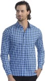 Scotchtree Men's Checkered Casual Blue S...