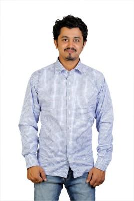 Egoist Men's Woven Casual Blue Shirt