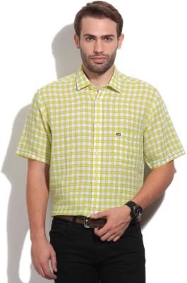 Arrow Sport Men's Checkered Casual White, Yellow Shirt