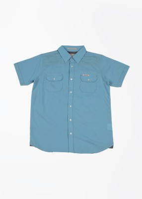 Pepe Jeans Boy's Solid Casual Blue Shirt