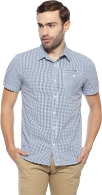 883 Police Men's Striped Casual Blue Shirt