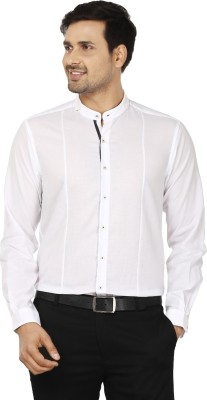 Wills Lifestyle Men's Solid Party White Shirt