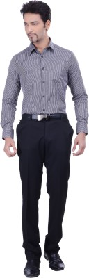 Validus Men's Checkered Formal Black Shirt
