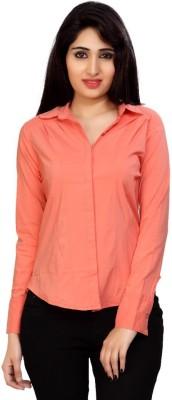 Carrel Women's Solid Formal Orange Shirt