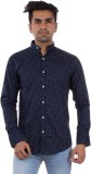 Evanzo Men's Printed Casual Blue Shirt