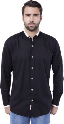 Tag & Trend Men's Solid Casual Black Shirt