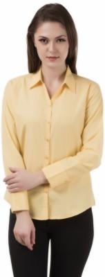 Apoyo Women's Solid Formal Yellow Shirt