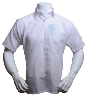 Qube Men's Solid Formal, Festive White Shirt