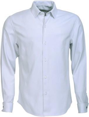 Roar and Growl Men,s Solid Formal Grey Shirt