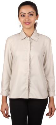 Lmfao Women's Solid Formal Beige Shirt