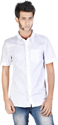 Corpus Men's Solid Casual White Shirt
