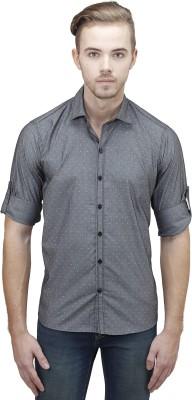 Unixx Men's Printed Casual Grey Shirt