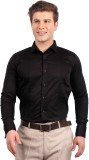 Solemio Men's Solid Formal Black Shirt