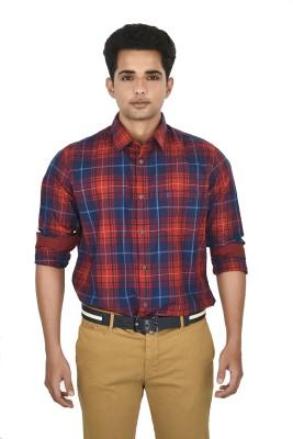 Hackensack Men's Checkered Casual Red, Black Shirt