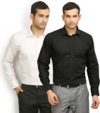 Vape Men's Solid Formal Black Shirt (Pac...