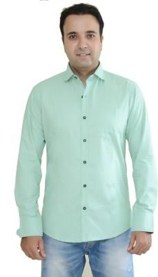 Kings Republic Men's Solid Casual Light Green Shirt