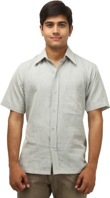 Antaragya Men's Solid Casual, Sports, Festive Grey Shirt