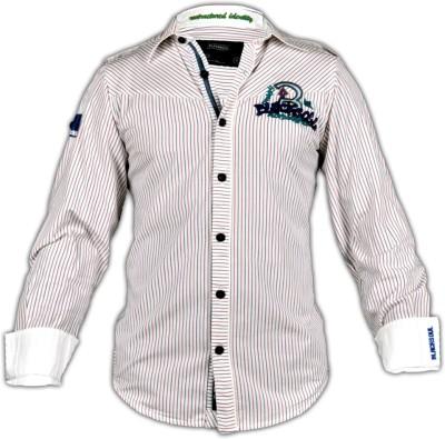 Blacksoul Men's Striped Casual Multicolor Shirt