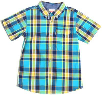 Levis Kids Boy's Checkered Casual Blue Shirt