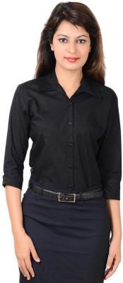 Protext Premium Women's Solid Casual Black Shirt