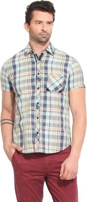 Leo Sansini Men's Checkered Casual Multicolor Shirt