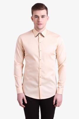 Alvin Kelly Men's Solid Casual Orange Shirt