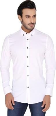 Mode De Base Italie Men's Solid Casual White Shirt