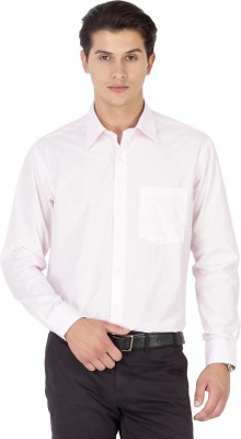 Kanva Men's Solid Casual Pink Shirt
